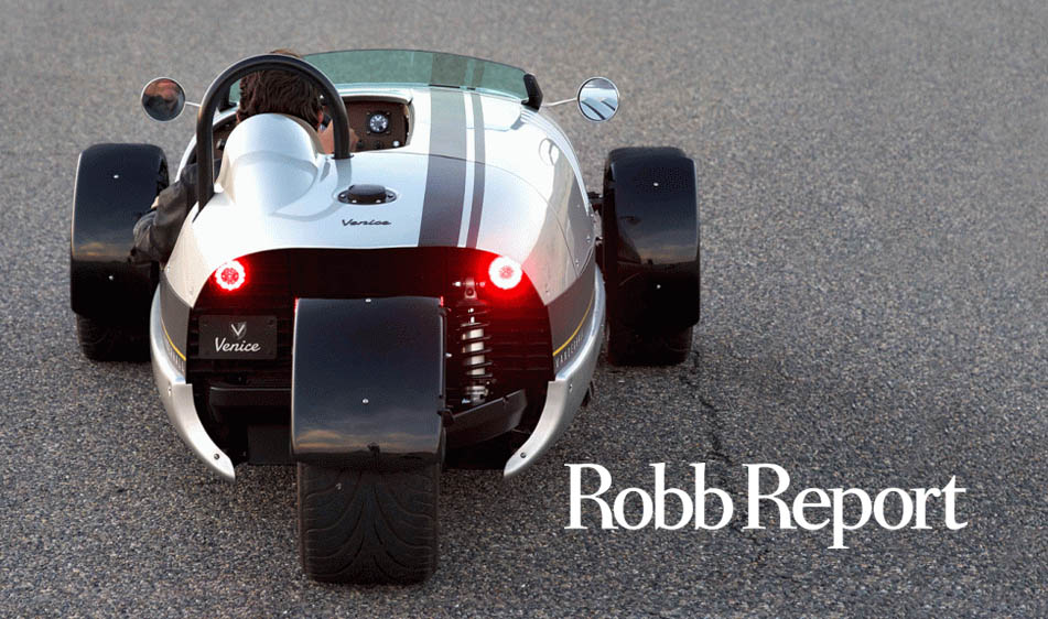 Robb Report: The Vanderhall Speedster Is a Single-Seat Sensation