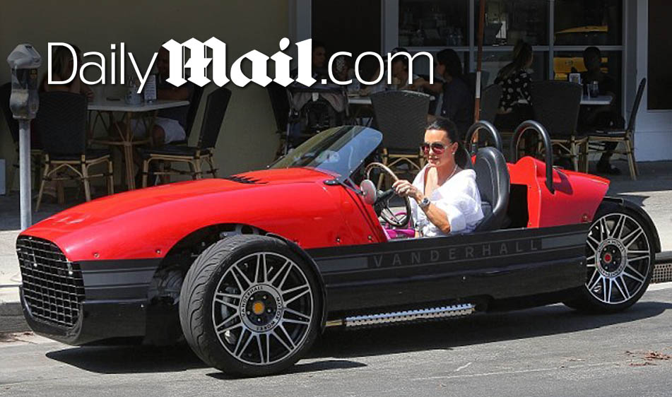 Daily Mail: Kyle Richards Arrives in Style to Coffee Date in Red Vanderhall
