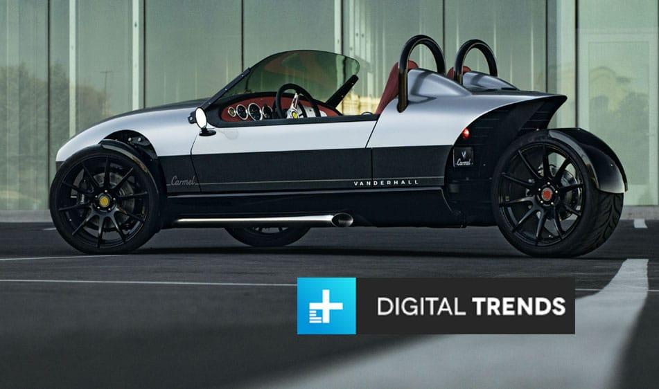 Digital Trends: Vanderhall Carmel Adds Creature Comforts to the basic Three-Wheeler Formula