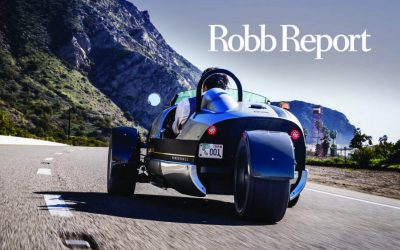 Robb Report: How Driving the Three-Wheeled Venice Speedster Evokes a Bygone Era