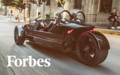 Forbes: Exclusive First Drive: Vanderhall Edison 2 is a Light, Agile Battery Electric Performance Vehicle