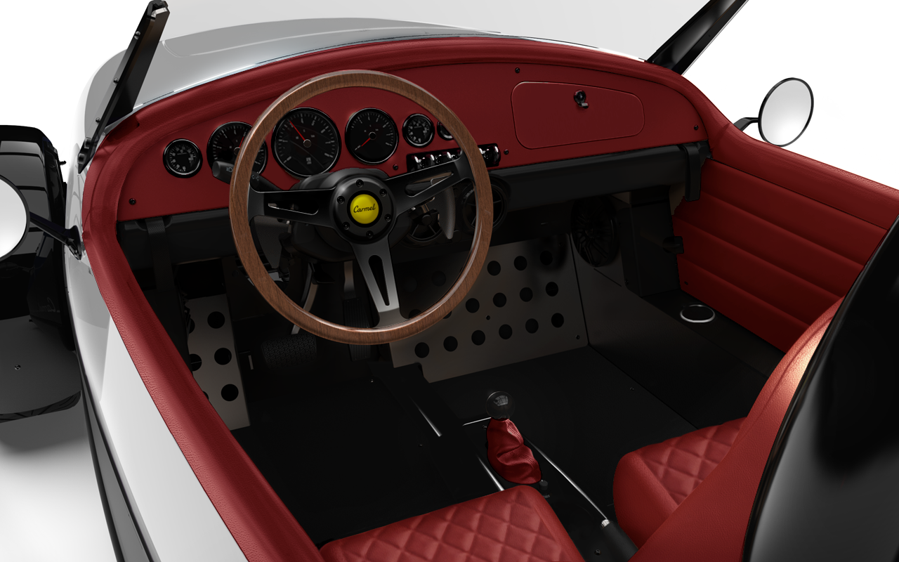 Vanderhall-Carmel-interior WHITE cranberry machined