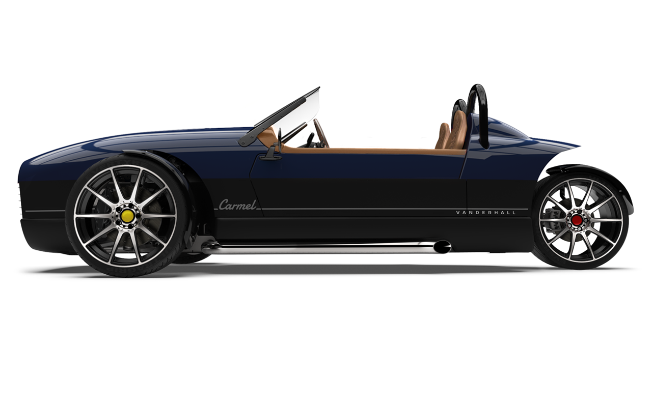 Vanderhall-Carmel-side BLUE machined