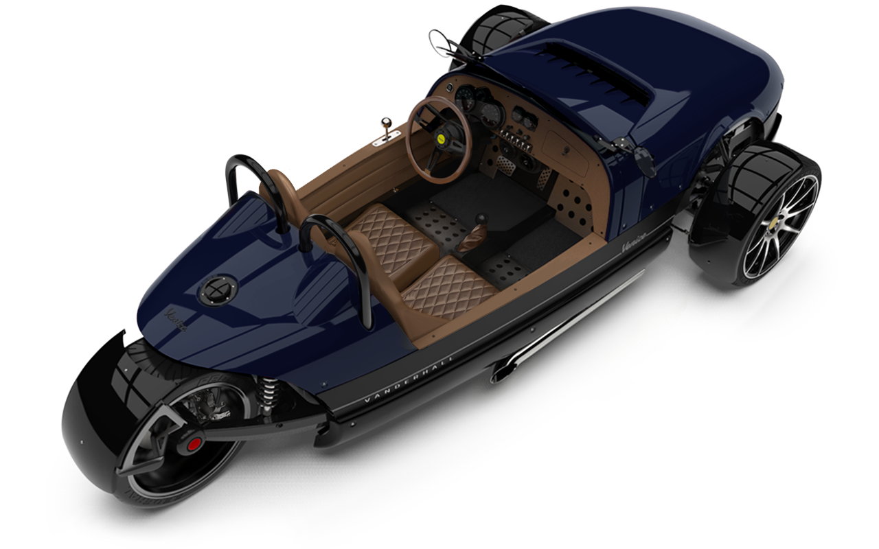 Vanderhall-Venice-High-Rear-rim BLUE EU nov machined wheels 3 inch