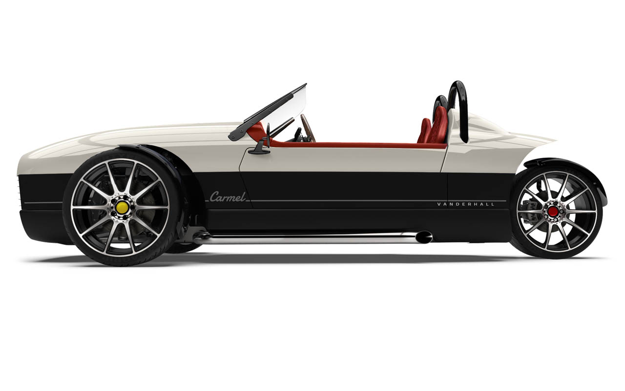 Vanderhall-Carmel-side IVORY WHITE cranberry machined