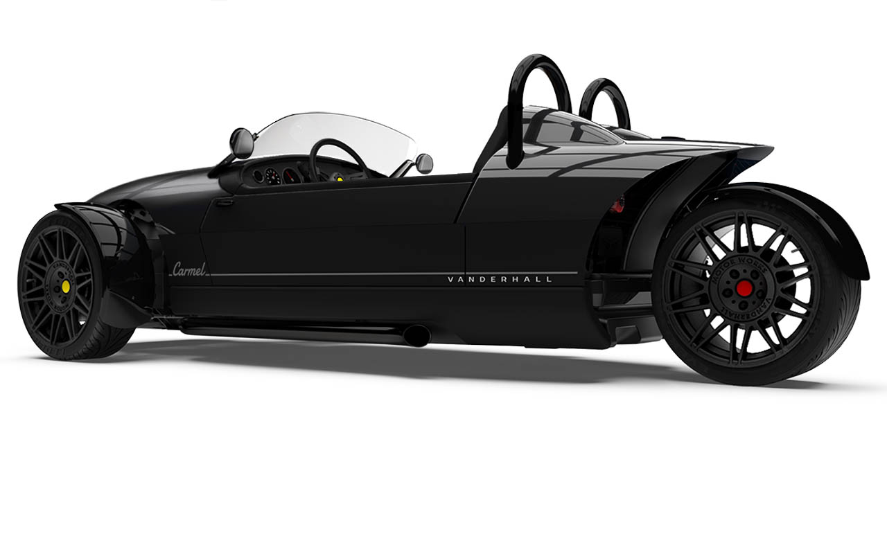 Vanderhall Carmel side rear BLACK 2021 shiny