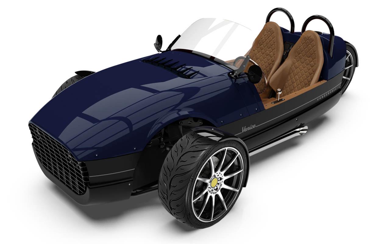 Vanderhall-Venice-high-front BLUE EU nov machined wheels 3 inch brembo