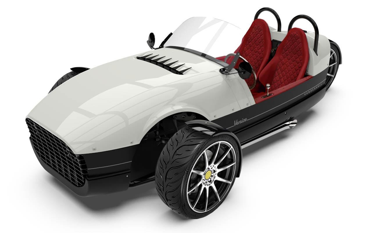 Vanderhall-Venice-high-front White EU nov machined wheels brembo