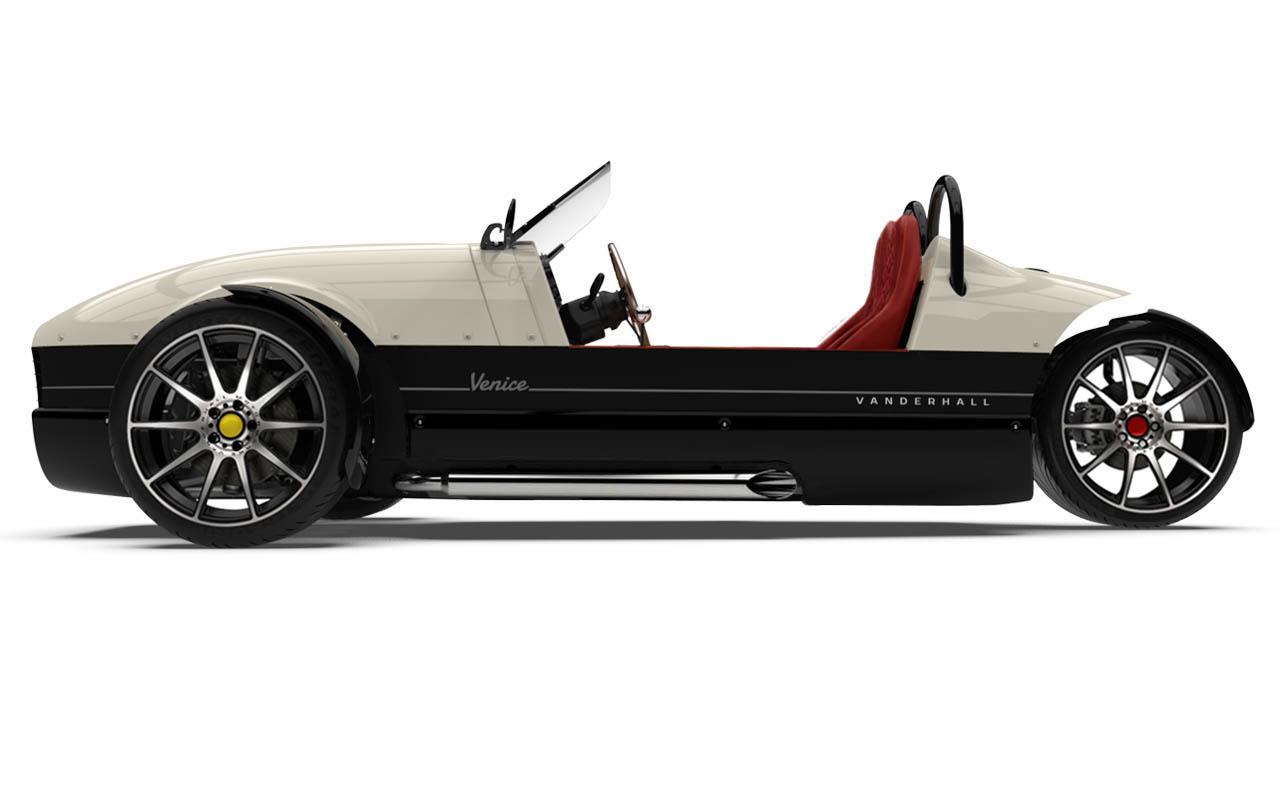 Vanderhall-Venice-side EU White nov machined wheels 3 inch