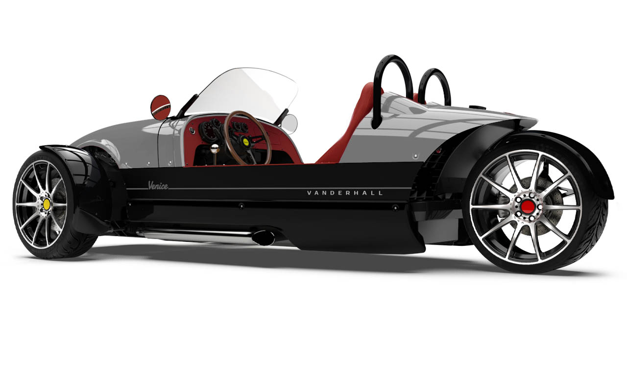 Vanderhall-Venice-side-rear EU nov machined wheels 3 inch brembo