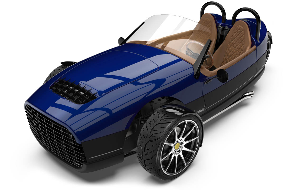 Vanderhall-Carmel-high-front tracy BLUE machined
