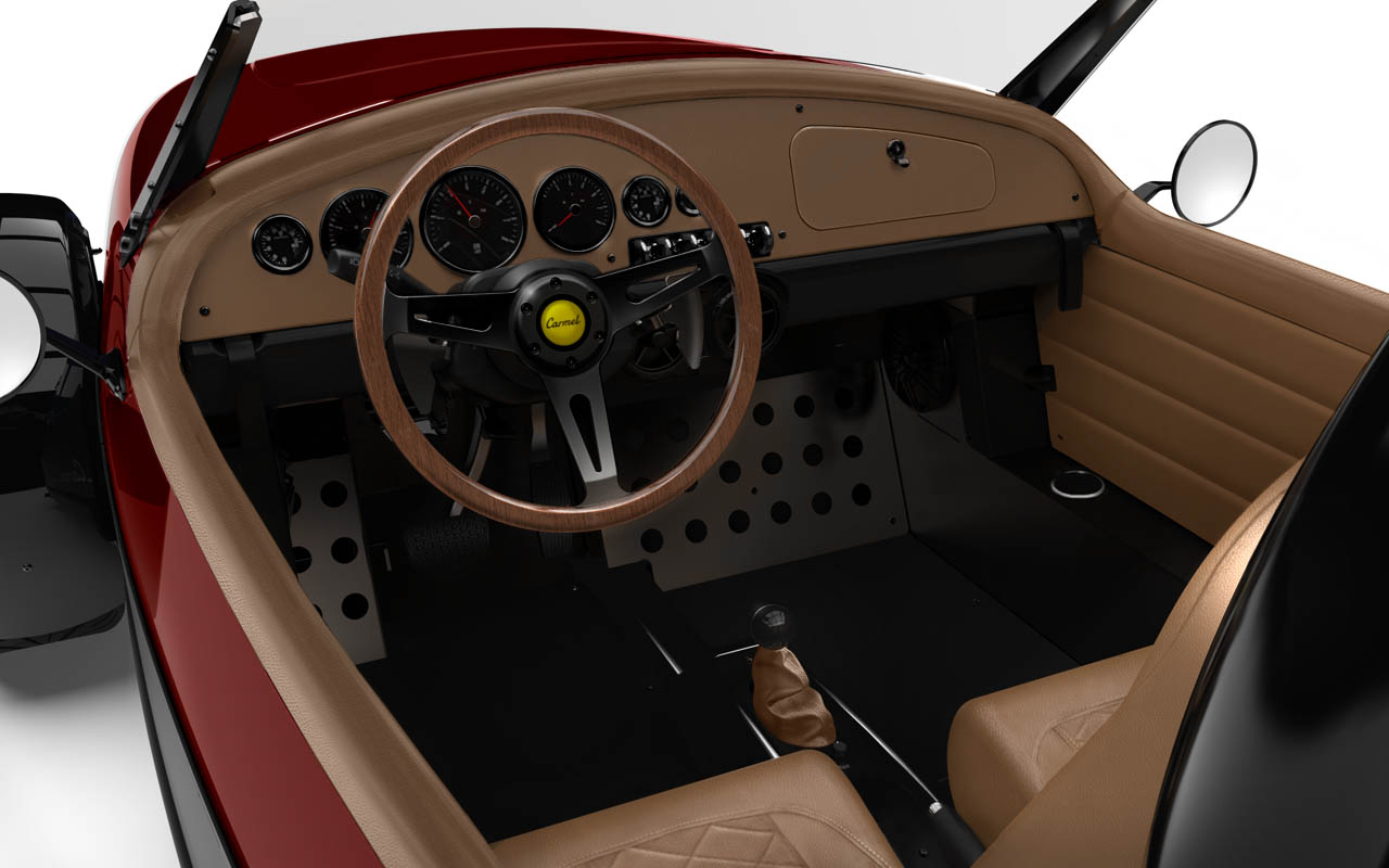 Vanderhall-Carmel-interior ida rose machined