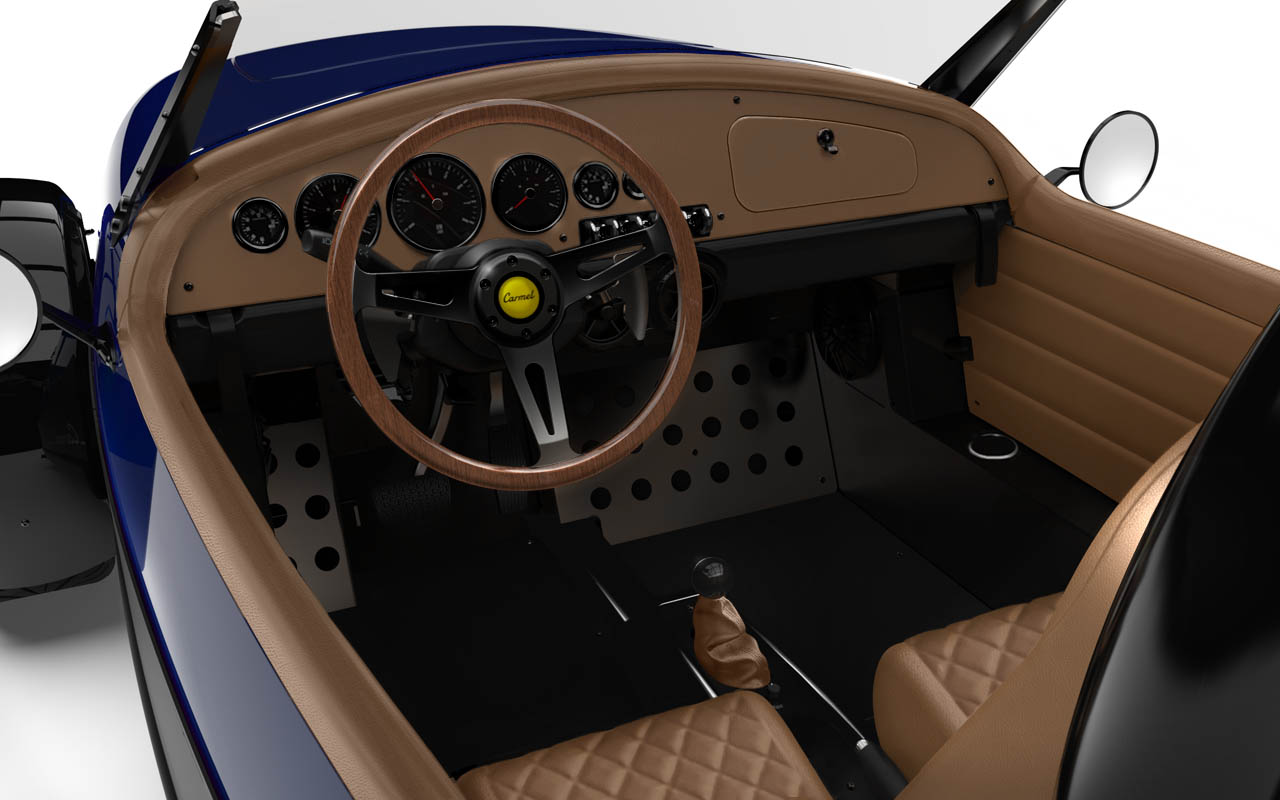 Vanderhall-Carmel-interior tracy BLUE machined