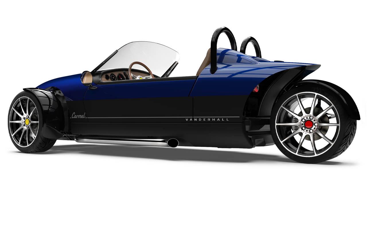 Vanderhall-Carmel-side-rear tracy blue