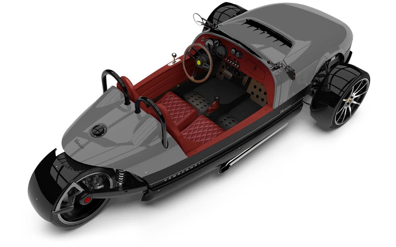 Vanderhall-Venice-High-Rear-rim jean grey quilted nov machined wheels 3 inch