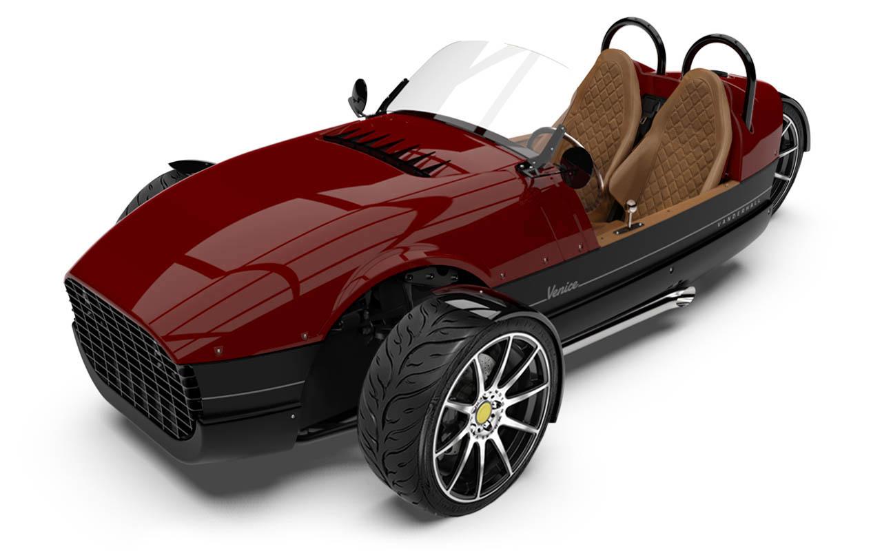 Vanderhall-Venice-high-front ida-rose machined wheels 3 inch brembos