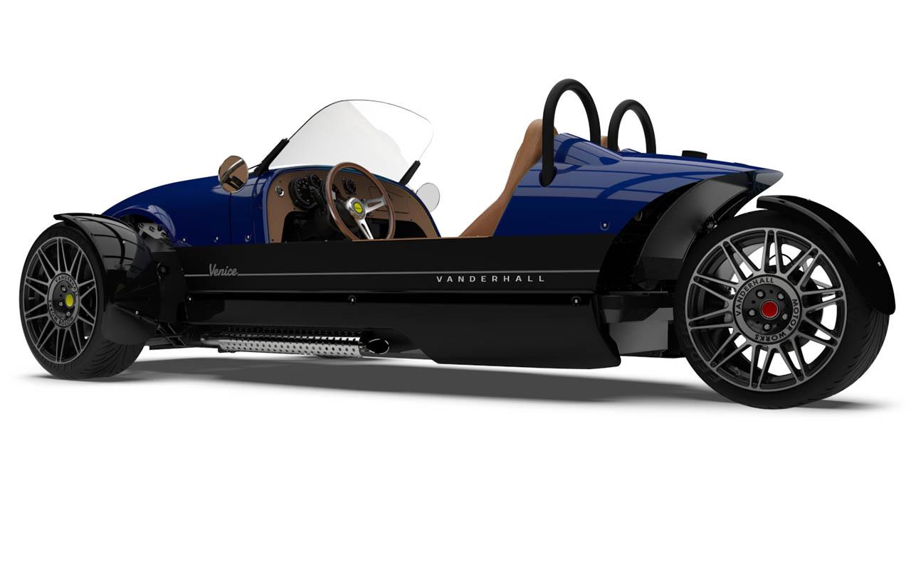 Vanderhall-Venice-side-rear tracy blue